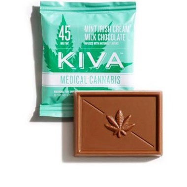 Kiva Mint Irish Cream Milk Chocolate Minis